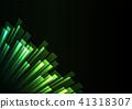 green overlap stripe rush in dark background 41318307