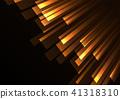 orange overlap stripe rush in dark background 41318310
