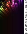 rainbow overlap stripe rush in dark background 41318312