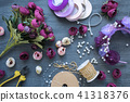 Making a artificial flowers and wreath for wedding 41318376