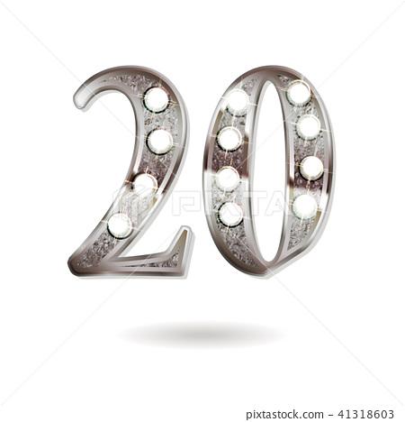 20 years anniversary celebration design 41318603