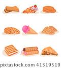 waffle, ice-cream, food 41319519