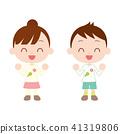 春裝三色餃子圖案長袖兒童 41319806