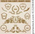Set of golden monograms 41320644
