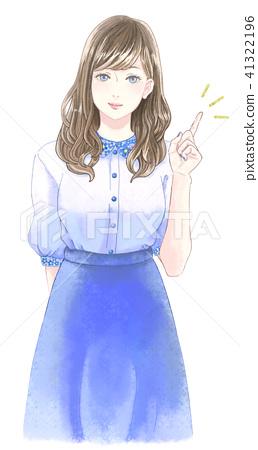 Female finger pointing 41322196