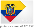 Ecuadorian flag design background. Vector illustration. 41323352