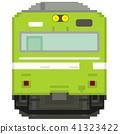 전차, 전철, 흰색 배경 41323422