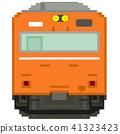 전차, 전철, 흰색 배경 41323423