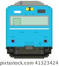 전차, 전철, 흰색 배경 41323424