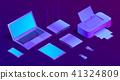 vector, laptop, computer 41324809