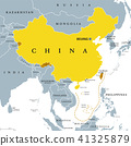 Peoples Republic of China, PRC, gray political map 41325879