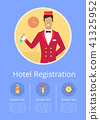 Hotel Registration Internet Page with Receptionist 41325952