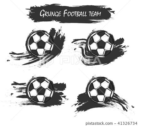 Set of football with watercolor paint art 41326734