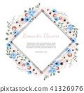 Vector floral design card.  41326976