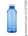 blue plastic vitamin water bottle on white  41327085