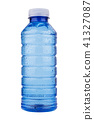 blue plastic vitamin water bottle on white 41327087