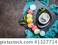 Colorful sweet macaroons 41327714