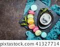 Colorful sweet macaroons 41327714