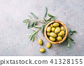 Fresh olives in a bowl 41328155