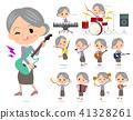 Purple clothes grandmother_pop music 41328261