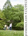 가족, 공원, 축구 41329913