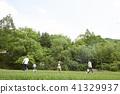 가족, 공원, 놀이 41329937