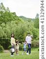 가족, 공원, 미소 41329944