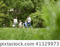 가족, 공원, 축구 41329973