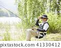 生活,釣魚,男人 41330412