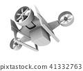 VTOL快遞無人機在粘土陰影圖像後面。超高速交付的概念。 41332763