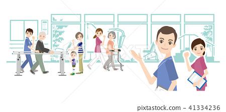 물리 치료사와 재활의 일러스트 41334236