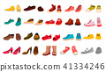 Footwear Set Vector. Stylish Shoes. For Man And Woman. Sandals. Different Seasons. Design Element 41334246