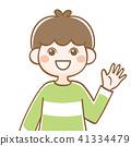 男孩臉上的姿勢 41334479