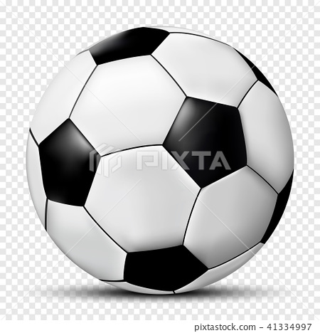 Soccer ball isolated on transparent background  41334997