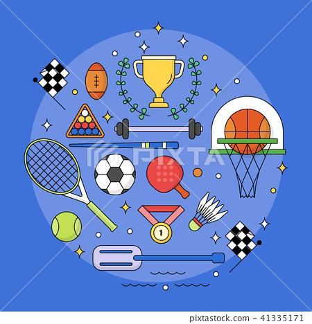 Set of Sport editable stroke,Competition league 41335171