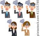 직장인 남성과 여성의 현기증 41335790