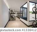 Bike Garage at home , 3d Rendering 41336412