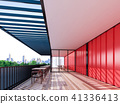 red shipping container restaurant , 3d Rendering 41336413