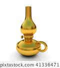 Old retro vintage golden kerosene lamp. 3d render 41336471