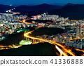 한국의 도로와 거리의 야경 41336888