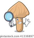 Detective inocybe mushroom character cartoon 41336897