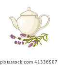 lavender tea illustration 41336907
