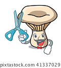 Barber milk mushroom character cartoon 41337029