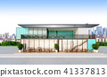 3d Rendering of a container restaurant 41337813