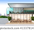 Shipping Container restaurant , 3d rendering 41337814