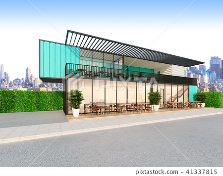 Restaurant made from Containers,3d rendering 41337815