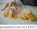pasta, dough, hands 41339727