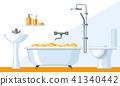Illustration of bathroom interior. 41340442