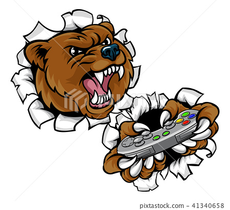 Bear Angry Esports Mascot 41340658