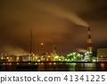 미에현 욧카 이치 항 공장 야경과 콤비나트 41341225